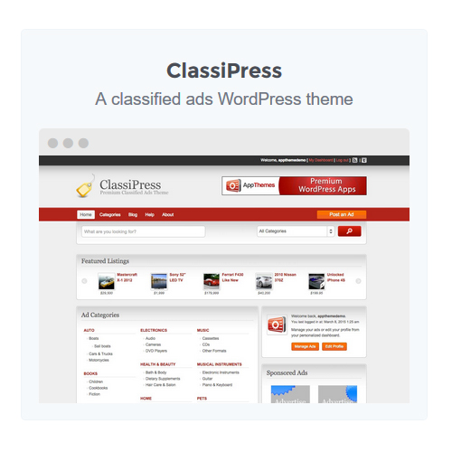 Classified Ads WordPress Theme to build Classified Websites