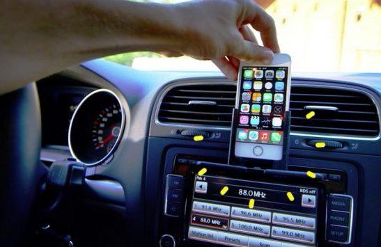 Mobile Phone Mount for Your Car - Radmo Classic Coated Aluminum Base
