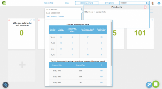 Online inventory and order management software