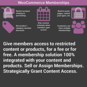 WooCommerce Memberships Plugin