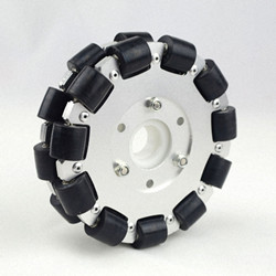 127mm Double Aluminum Onmi Wheel With Bearing Rollers