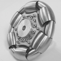 100mm Stainless Steel Rollers Omni Wheel for ball balance ballbot 14183