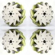A Set Of 10inch (254mm) Mecanum Wheel With Pu Roller (Load Cacipity 500kg) 14197