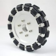 152MM Double Aluminum Omni Wheel With Bearing Rollers