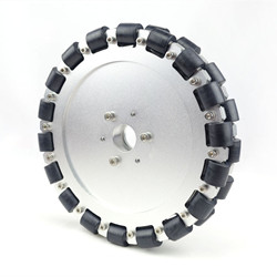 Double Aluminum Omni Wheel With Bearing Rollers