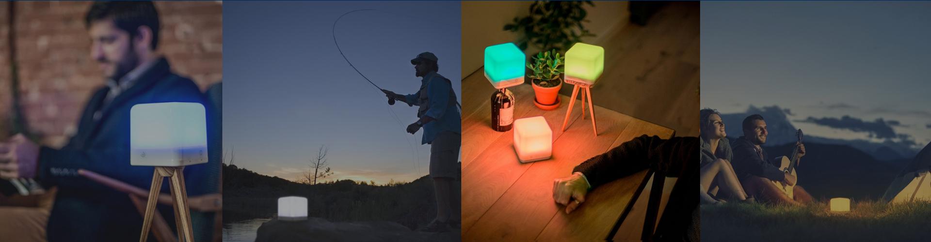 A wireless lamp