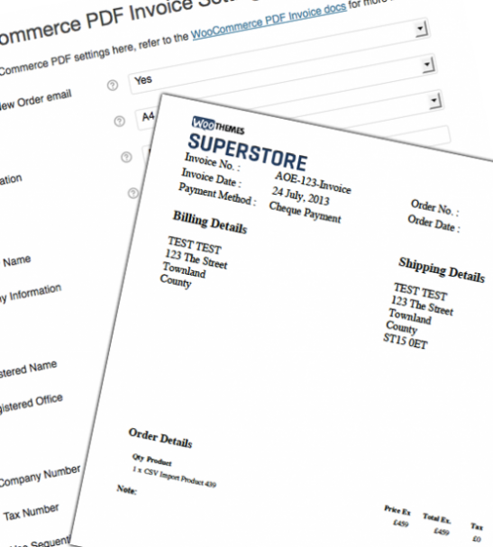 Automatically create fully customizable PDF invoices