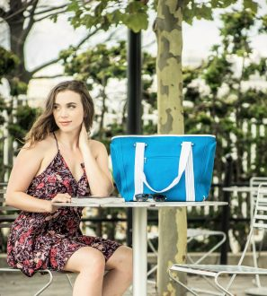 Waterproof Beach Bag with Built-in USB ports