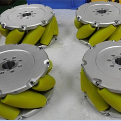 A set of 10inch (254mm) heavyduty industrial mecanum wheel (Load cacipity 1500KG) NM254A