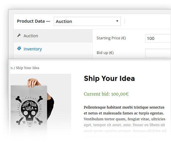 Set a minimum start price in auction plugin