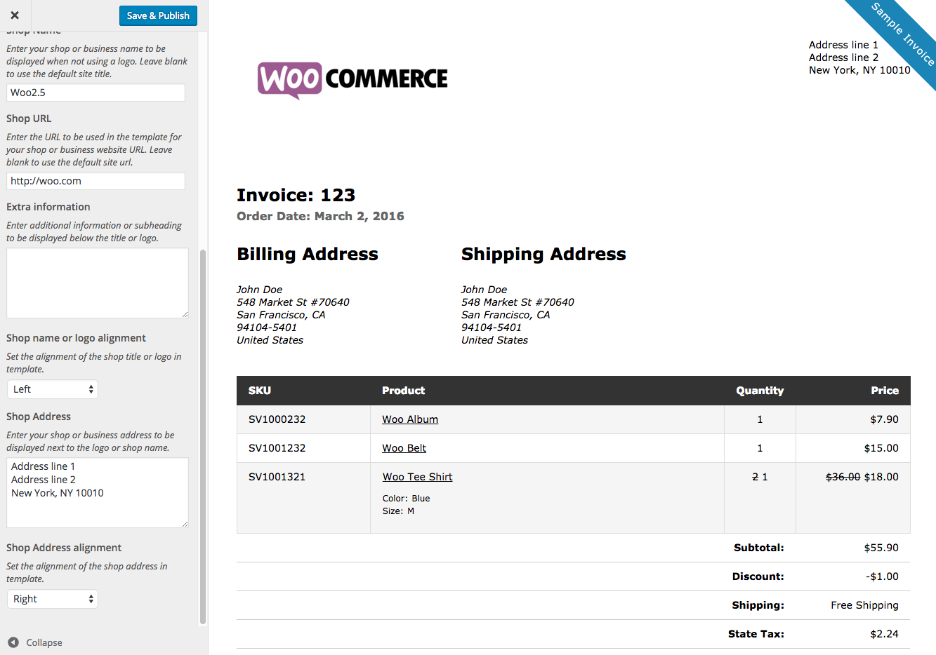 Print Invoices And Packing Lists Plugin For WordPress And WooCommerce - Free invoices online printable women clothing stores online