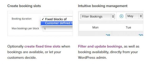 Create booking slots