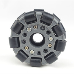 100mm Double Nylon-Rubber Omni Wheel with Bearing Rollers