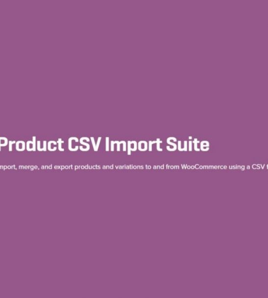 Product CSV Import Plugin to import and export products and variations