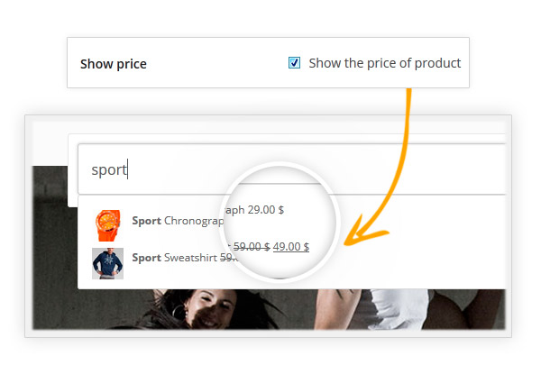 Show the price of the product