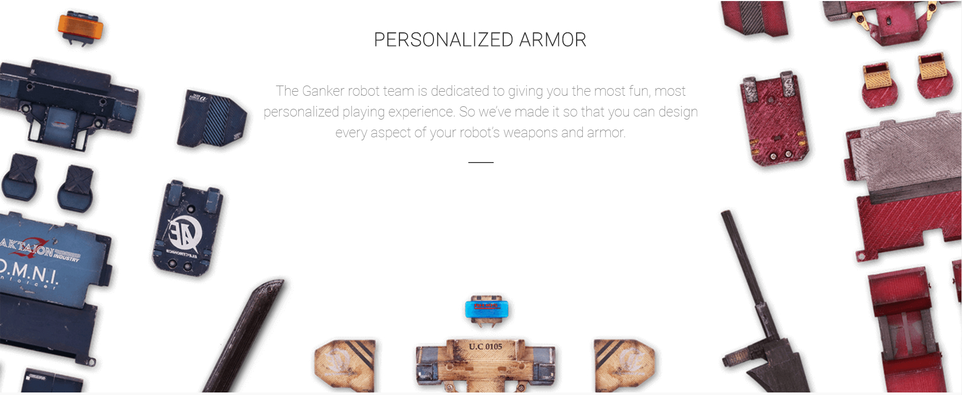 Fighting Combat Robot Personalized Armor