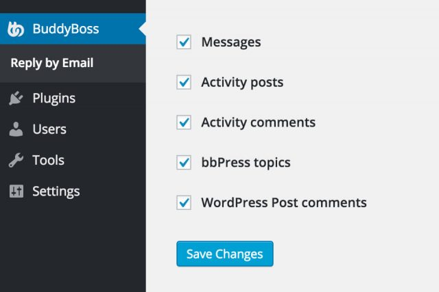 Reply to BuddyPress notifications straight from your email