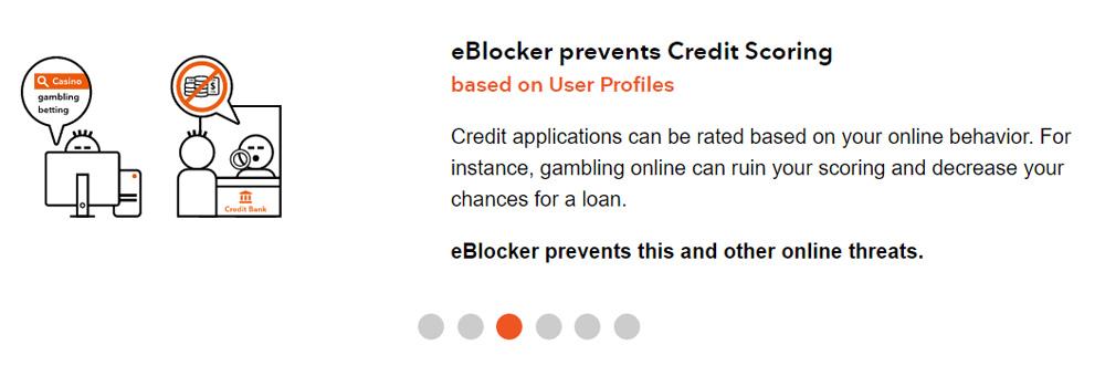 eBlocker Prevents Credit Card Scoring