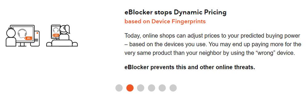 eBlocker Stops Dynamic Pricing