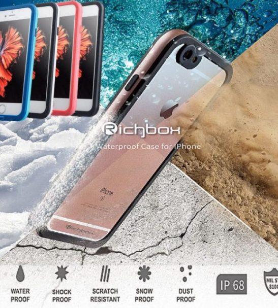 Waterproof and Shockproof iPhone case Richbox silver for i6/i6S
