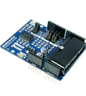 Cytron PS2 Shield is an Arduino compatible shield for Arduino UNO, Duemilanove, Mega, Leonardo