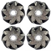 A set of 152mm Stainless Steel Mecanum Wheels (4 pieces) 14156