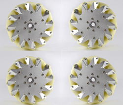 A set of 8 inch 203mm Mecanum Wheel 4 pieces with Bearing Rollers