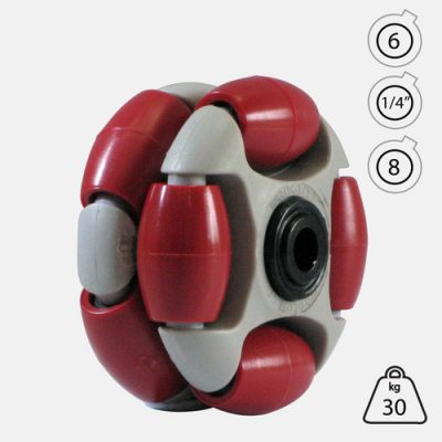 Rotacaster 48mm Double (90A) firm polyurethane roller Acetal Bearing