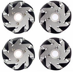 60mm Aluminum LEGO Compatible Mecanum wheels set (2 Left, 2 Right) Basic 14159