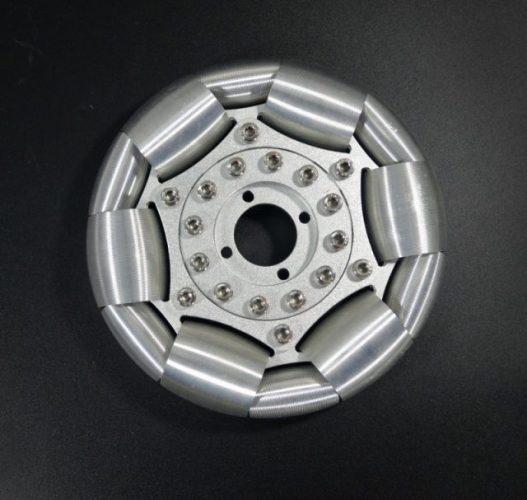 127mm Aluminum single Omni wheel for ball balance ballbot 14210