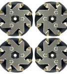 48mm steel Mecanum wheels set 2 Left and 2 Right 14209