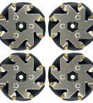 48mm steel Mecanum wheels set 2 Left and 2 Right 14209