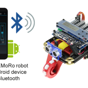EMoRo Advanced Robot designed with Android Device via Bluetooth for robotics competitions and education