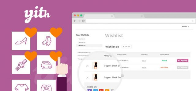 Yith WooCommerce Wishlist Plugin for WordPress