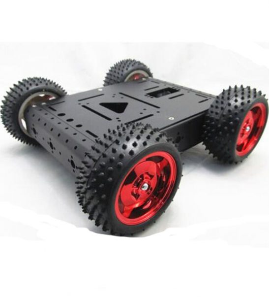 4WD Robot Car Chassis Kit Maximum Load 15KG