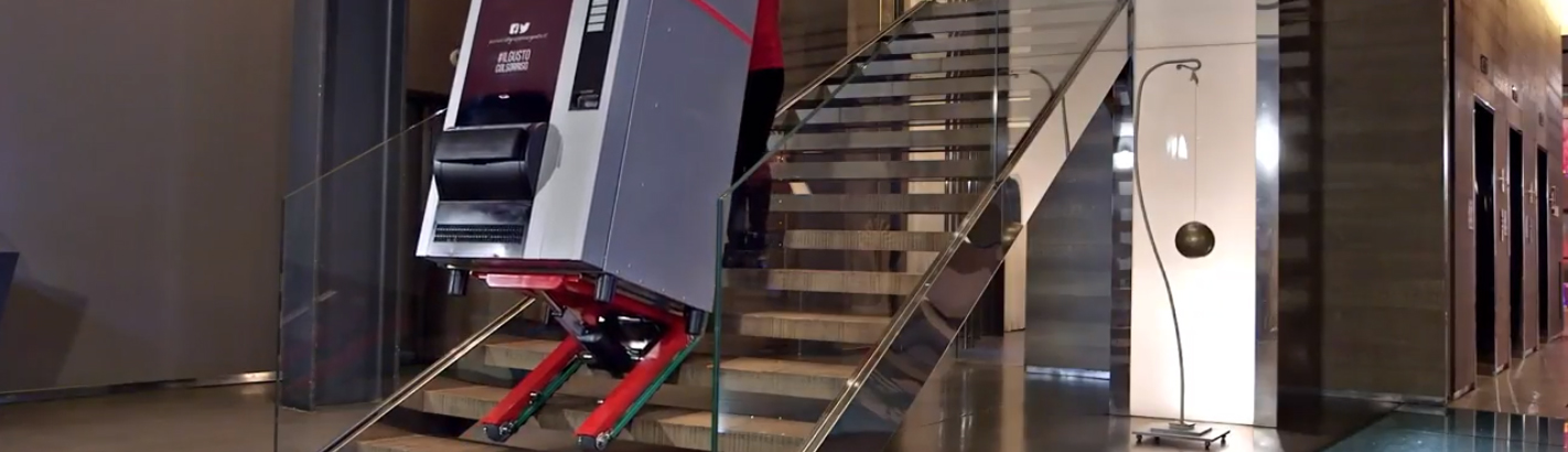 Stair Climbing Robot Trolley with Manual or Automatic Mode