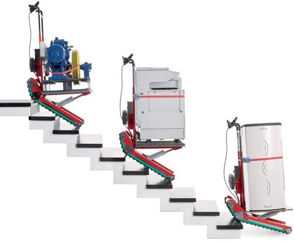 Stair Climbing Robot To Carry Heavy Products With Auto Or