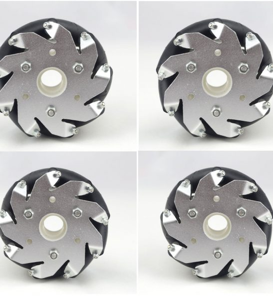 A set of 4 inch 100mm mecanum wheels 4 pieces with Bearing Rollers