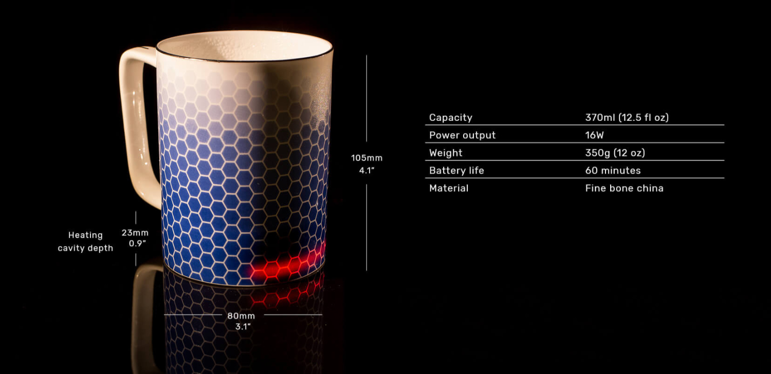 Image result for Glowstone Smart Mug: Honeycomb