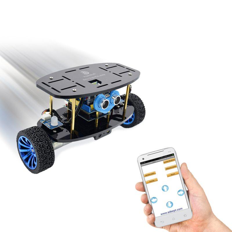 Adeept 2-Wheel Self-Balancing Upright Car Robot Kit for Arduino UNO R3