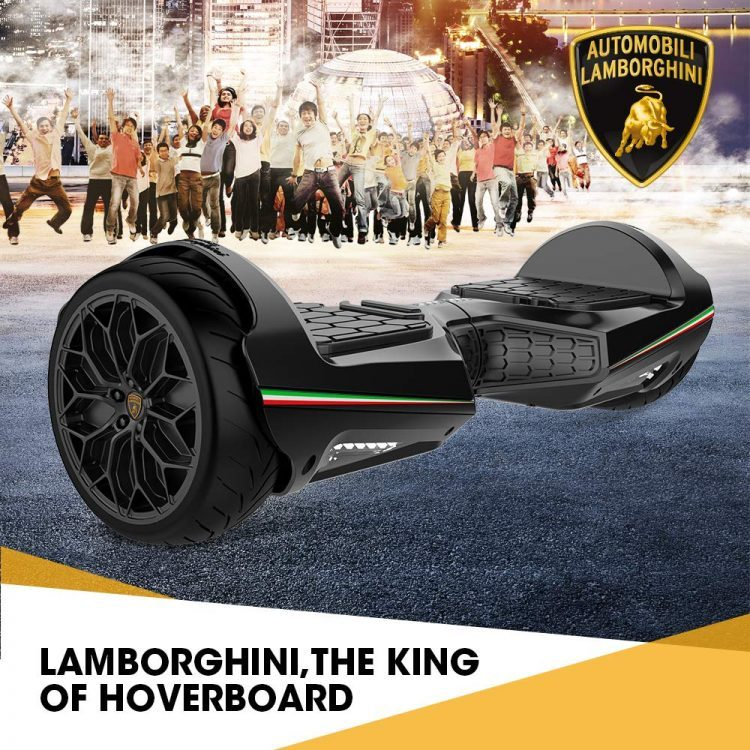LAMBORGHINI TwoDots Hoverboard 8.5 inches Hover Board All Terrain with App Glyboard Corse and Bluetooth Speaker LED Lights Two-Wheel Balancing Electric Scooter for Kids and Adult by UL2272 Certified