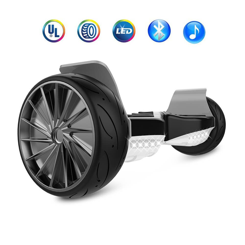 Bluetooth Self Balancing Hoverboard Sport 8 5 Inch Big Wheel Hover Board Black White Oz Robotics