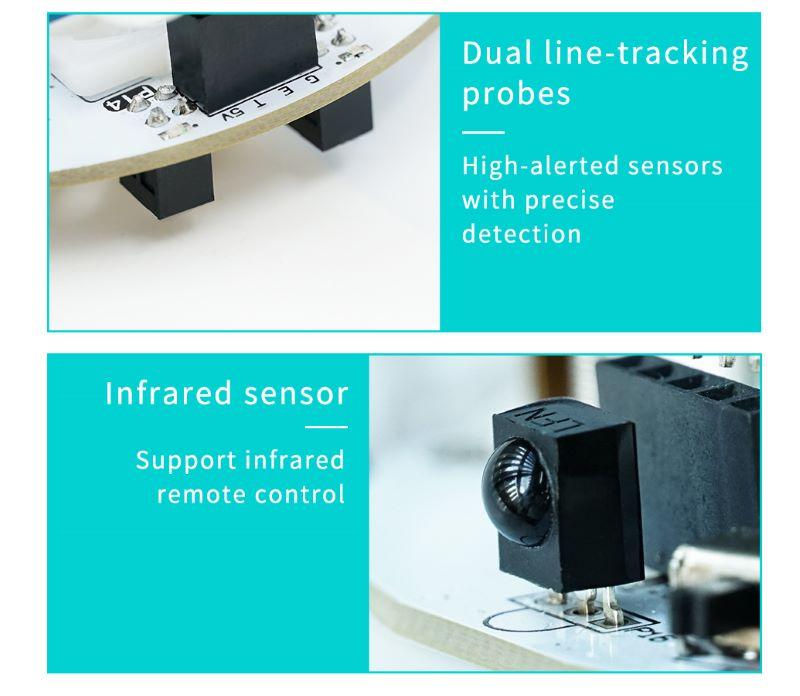STEM Educational Toy Robot Micro:bit Smart Cutebot Car