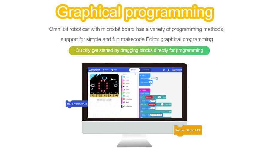 Micro:bit Omni:bit Smart Robot Car STEM Educational