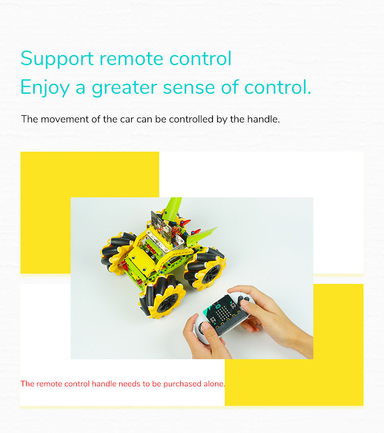 STEM Educational Toy Robot Car Micro:bit Wonder Rugged(without microbit board)