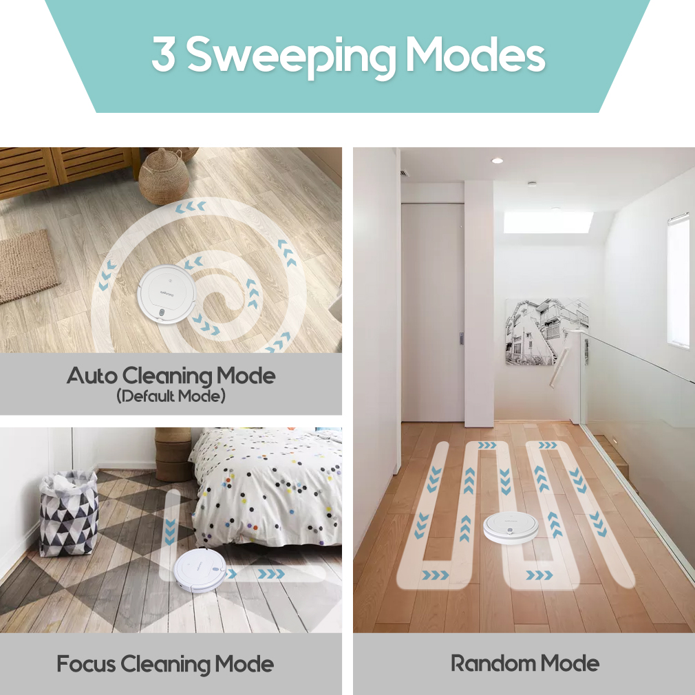 3 cleaning modes