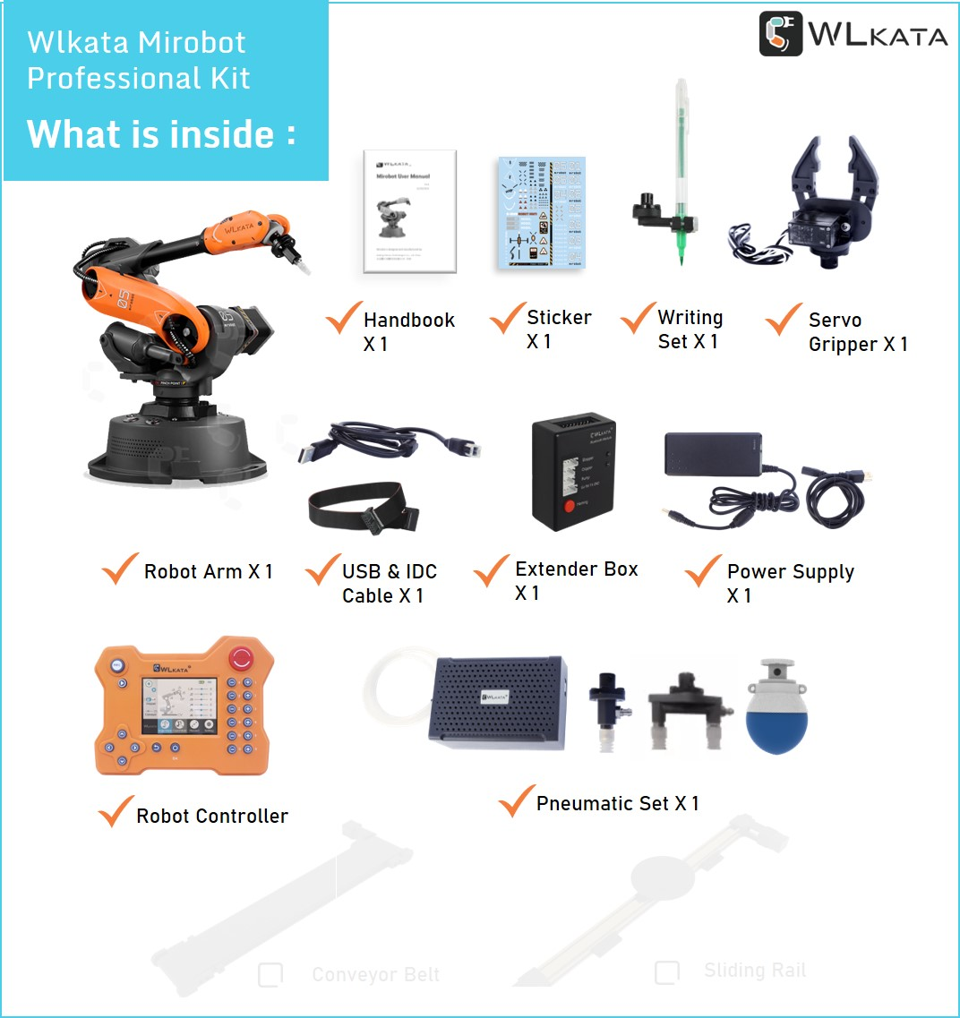 What is inside wlkata mirobot professional kit